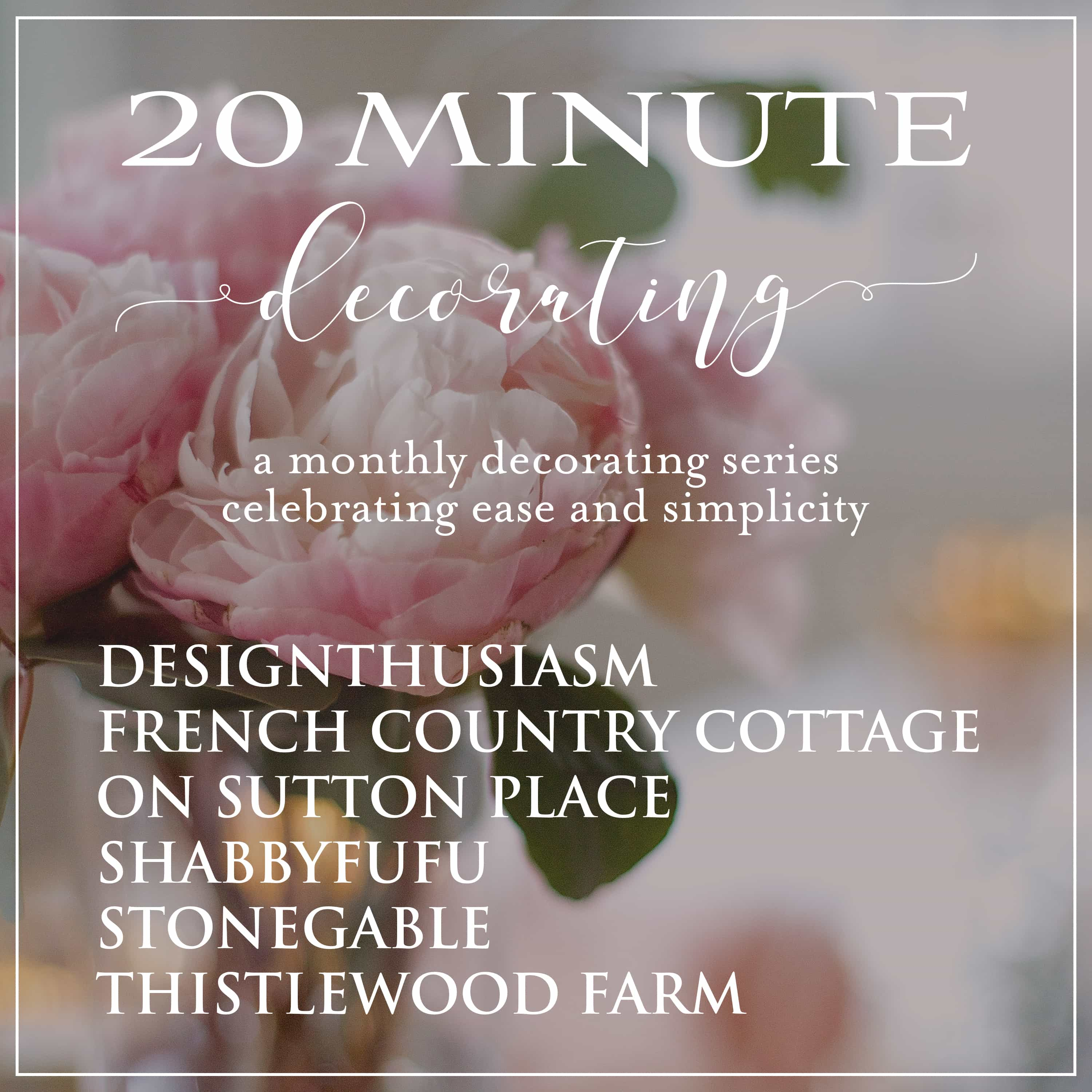 20 Minute Decorating series logo