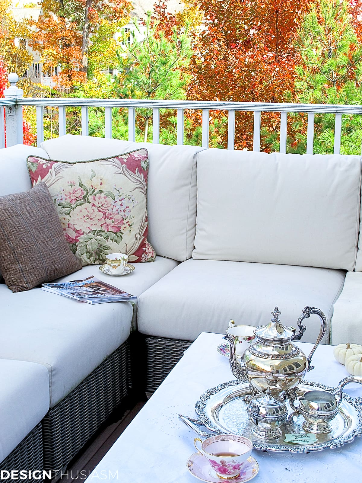 autumn outdoor room with french country patio decor