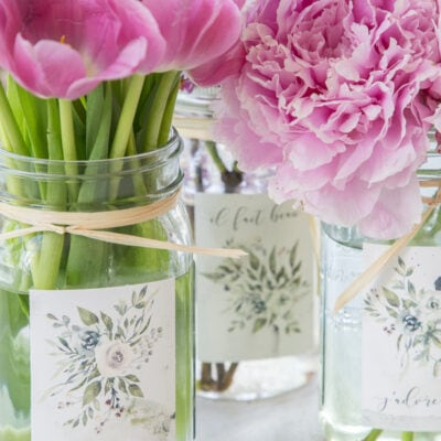 Summer Printables: French Floral Mason Jar Labels
