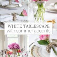 White Summer Tablescape