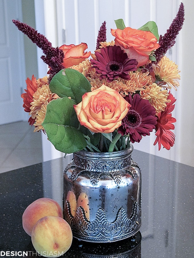 fall floral with autumn colors
