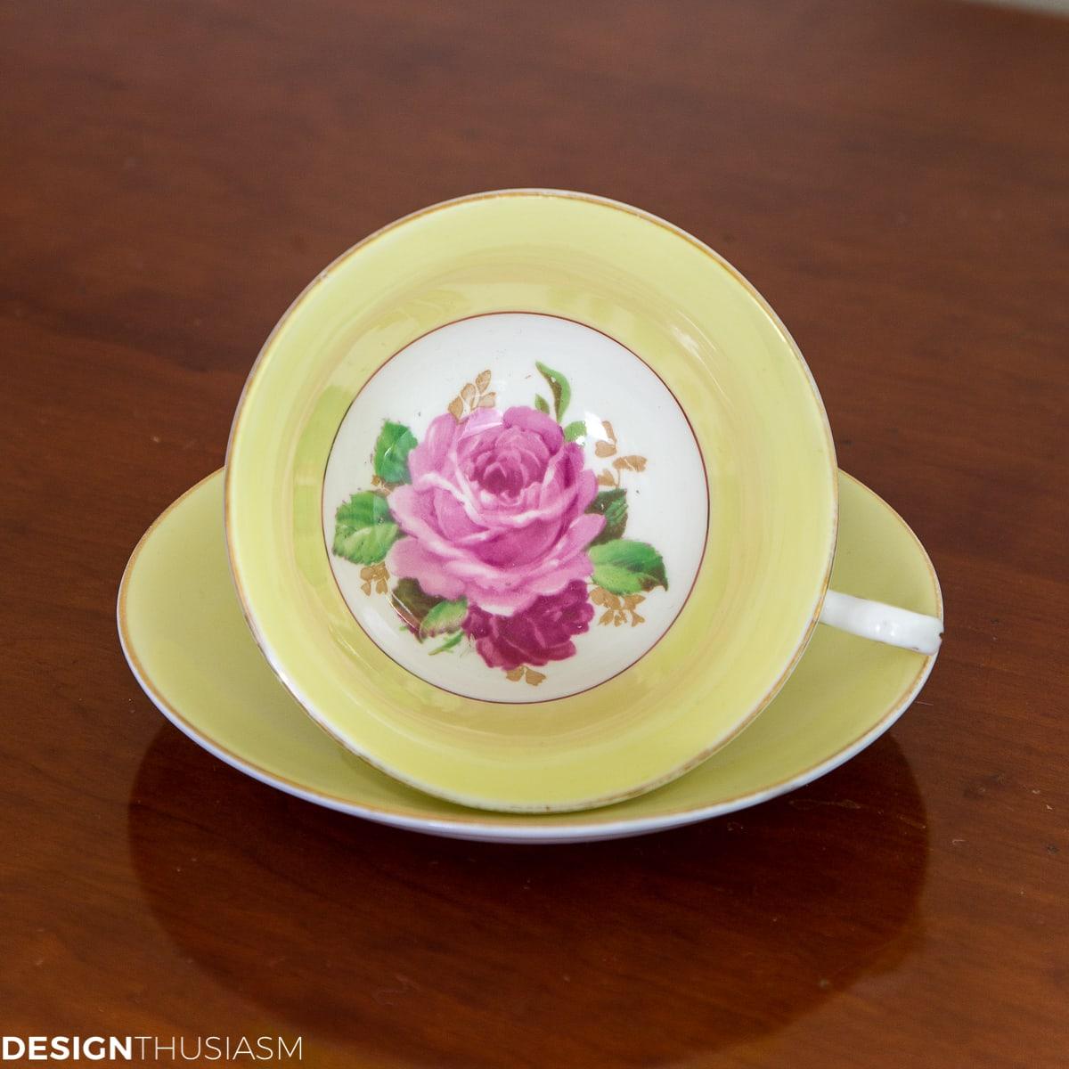 Designthusiasm vintage teacup giveaway