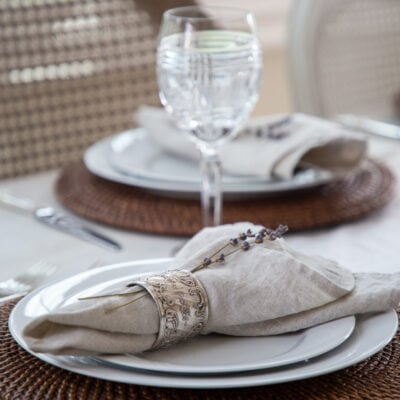 Table Linens + Chair Covers: 6 Simple Steps to a Lovely Summer Table
