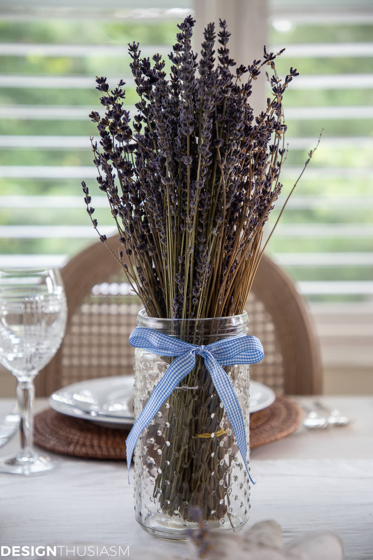 summer tablescape with lavender