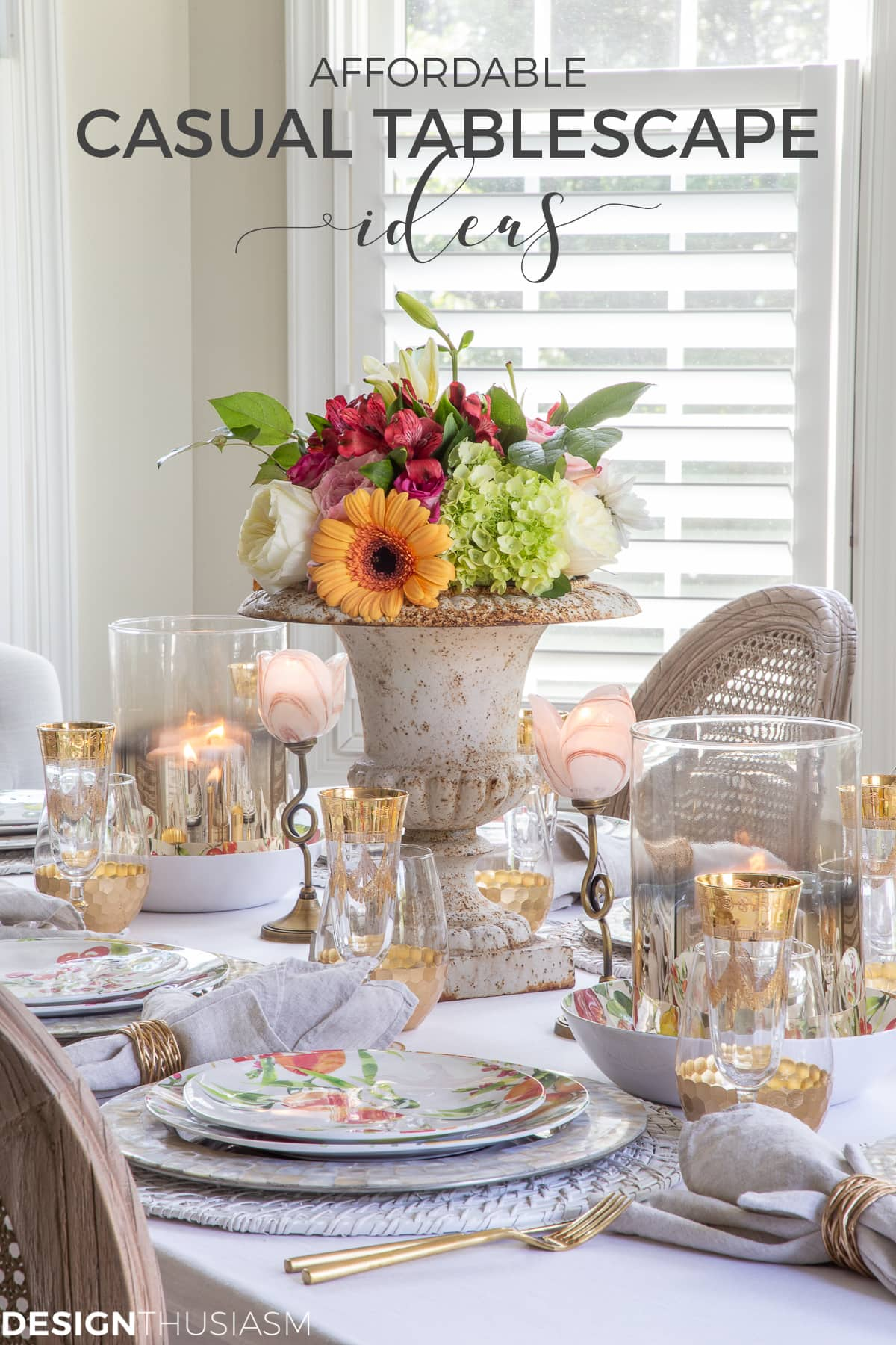 affordable informal table setting ideas