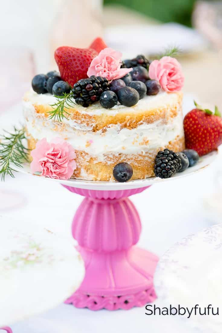 DIY Cake Stand Shabbyfufu