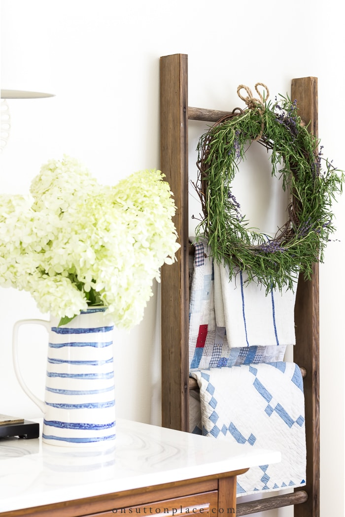 Fresh Rosemary Wreath Tutorial from On Sutton Place