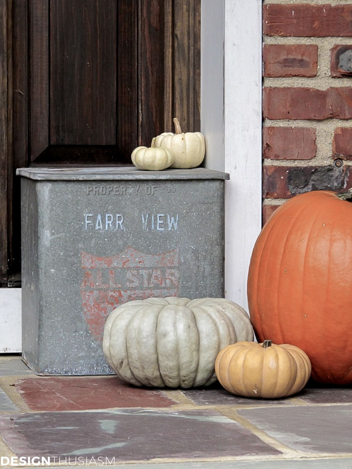 Halloween home decor heirloom pumpkins