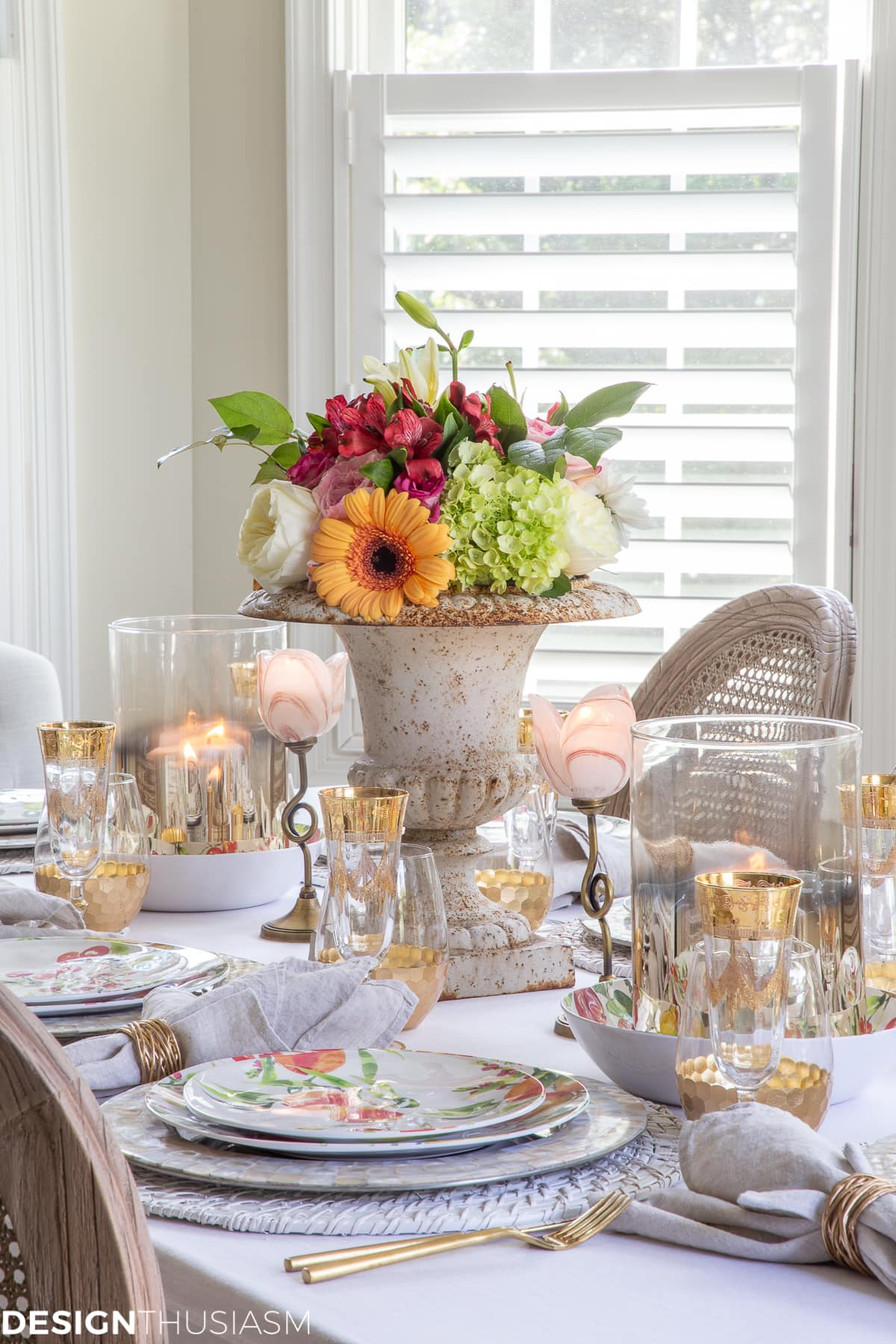 gorgeous inexpensive informal table setting