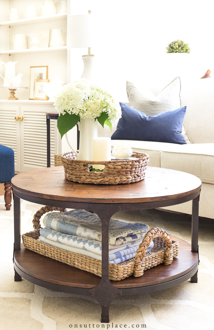 Round Coffee Table Styling Ideas from On Sutton Place