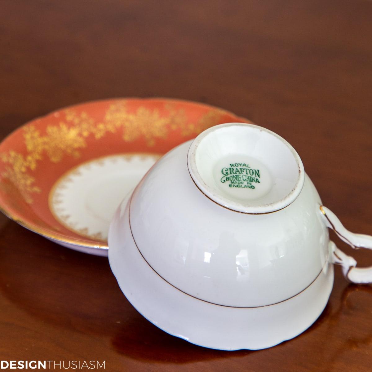 Russet teacup