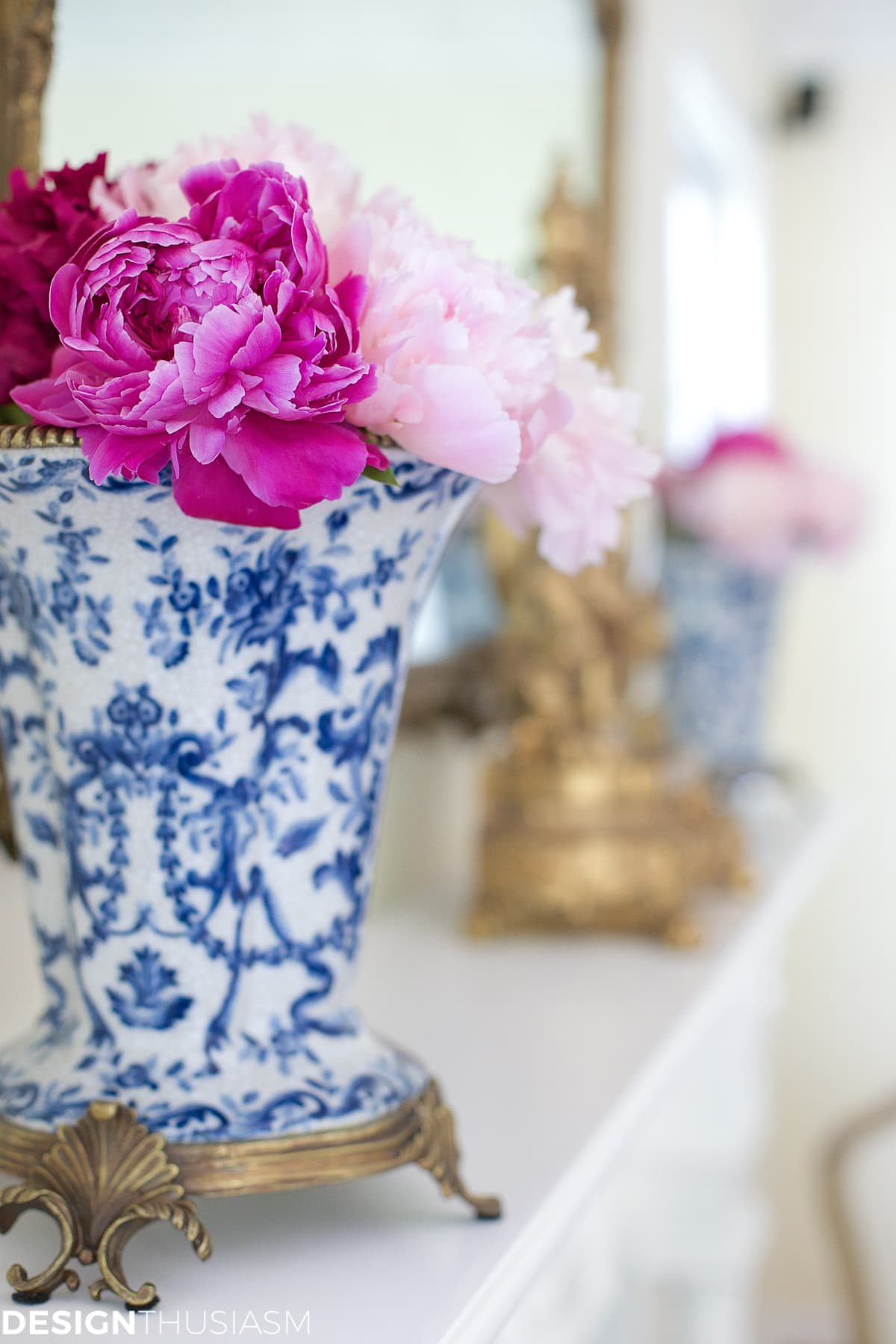 flower arrangement ideas with pink peonies