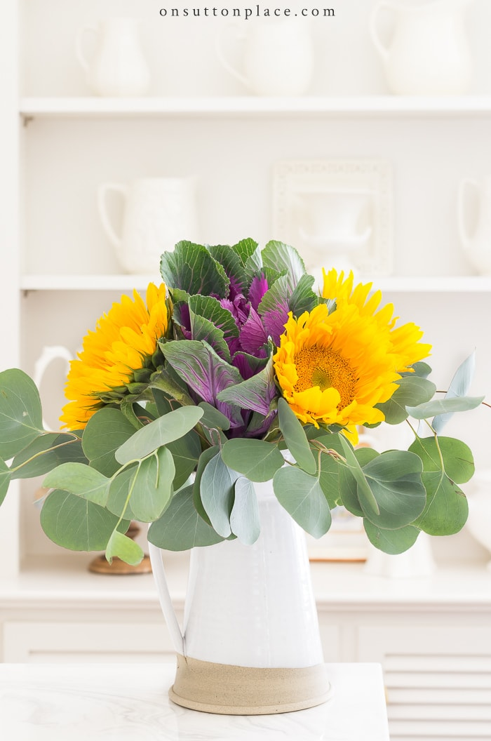 20 Minute Decorating Sunflower Arrangement from On Sutton Place