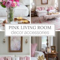 blush pink living room decor