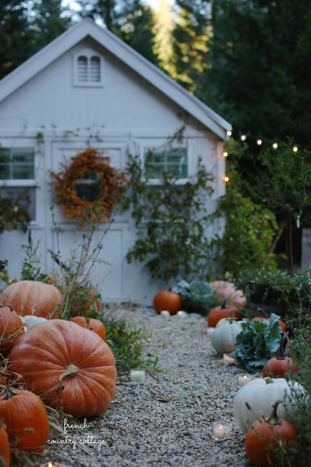 Autumn greenhouse French Country Cottage Book