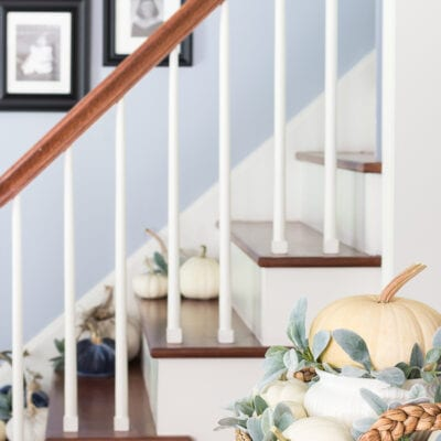 Foyer Decorating Ideas for Fall from On Sutton Place