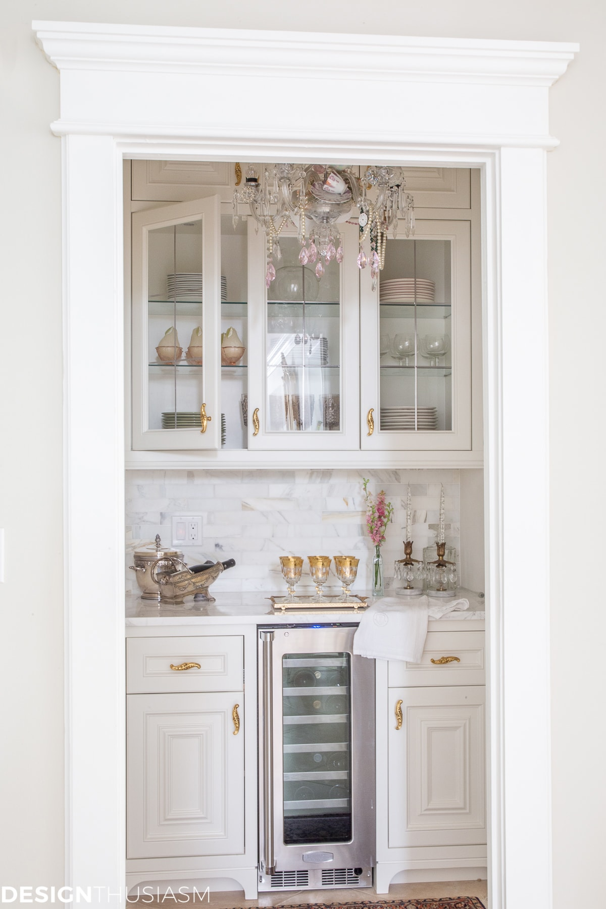 butler's pantry in a french country home