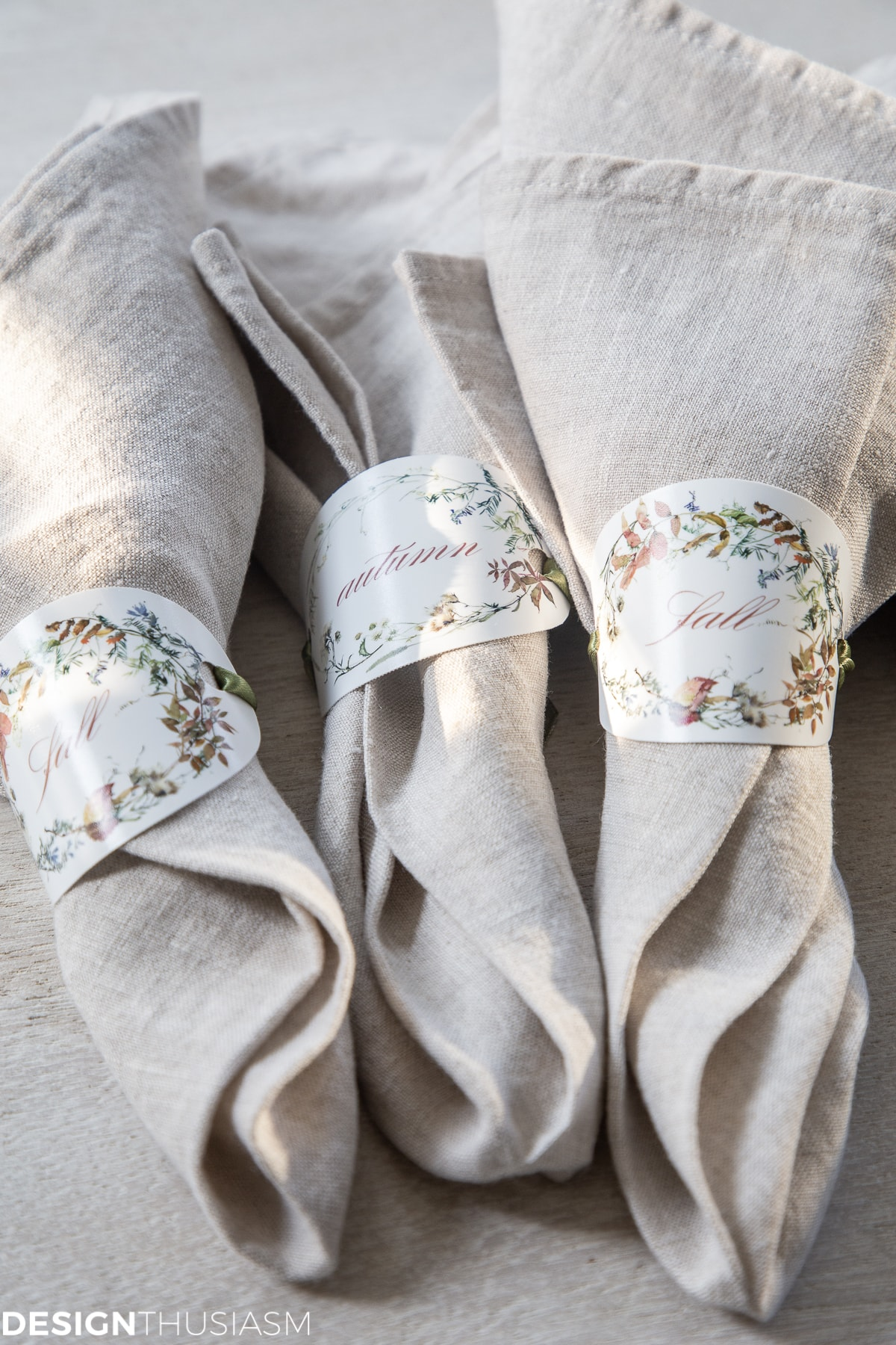 fall printables napkin rings