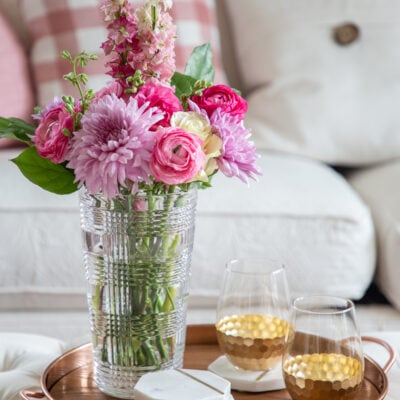 Glam Decor: Testing a New Home Style with Gold and Pink Room Decor