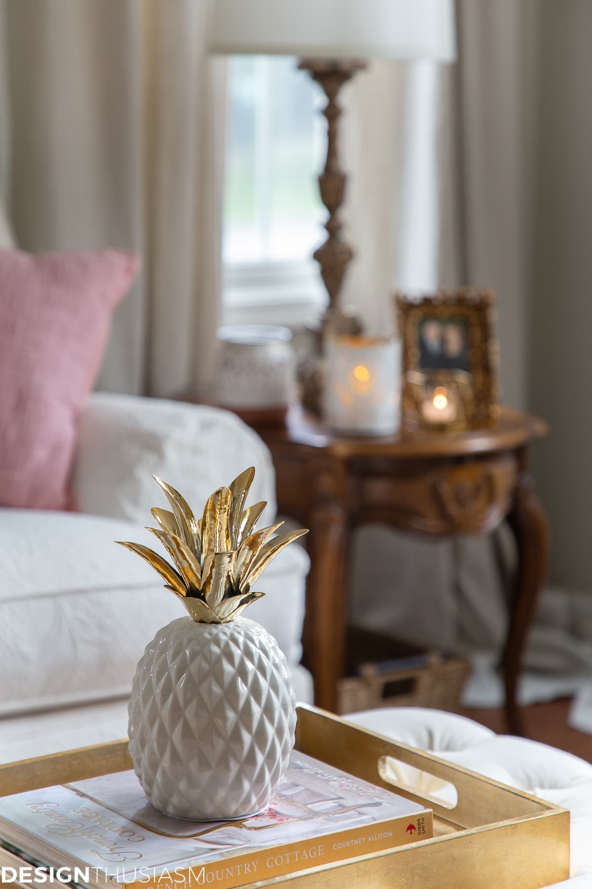 glam decor pineapple with pink room decor