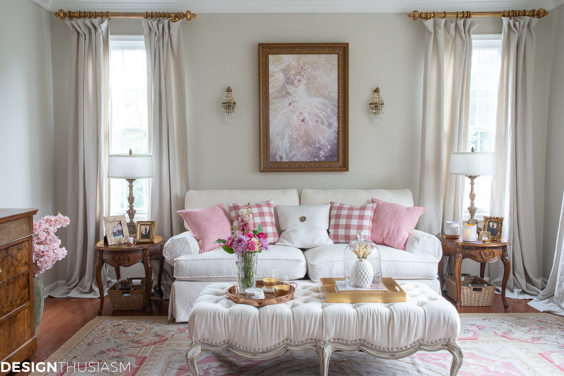 pink room decor living room glam decor home style