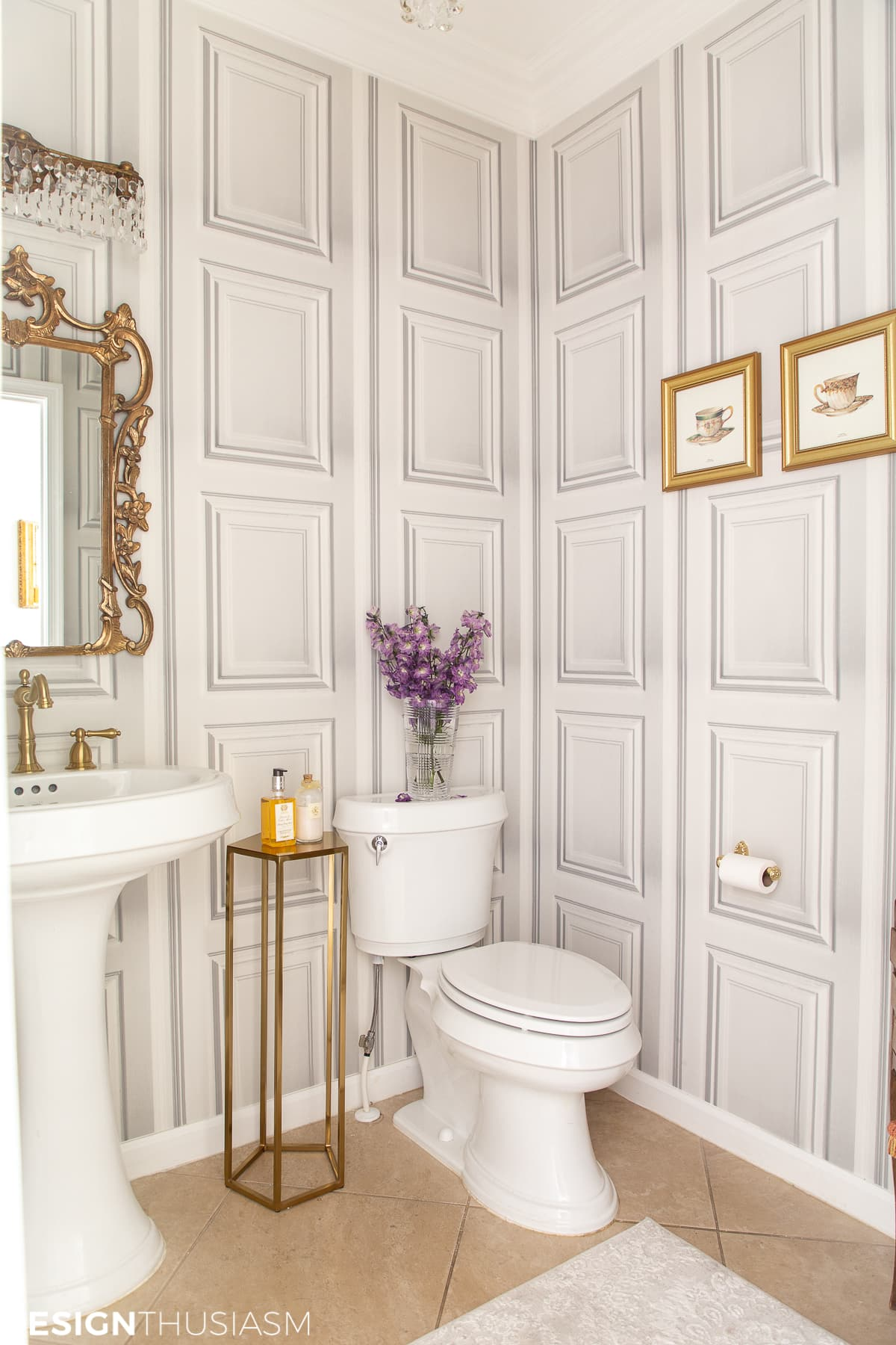 powder room ideas with powder room wallpaper