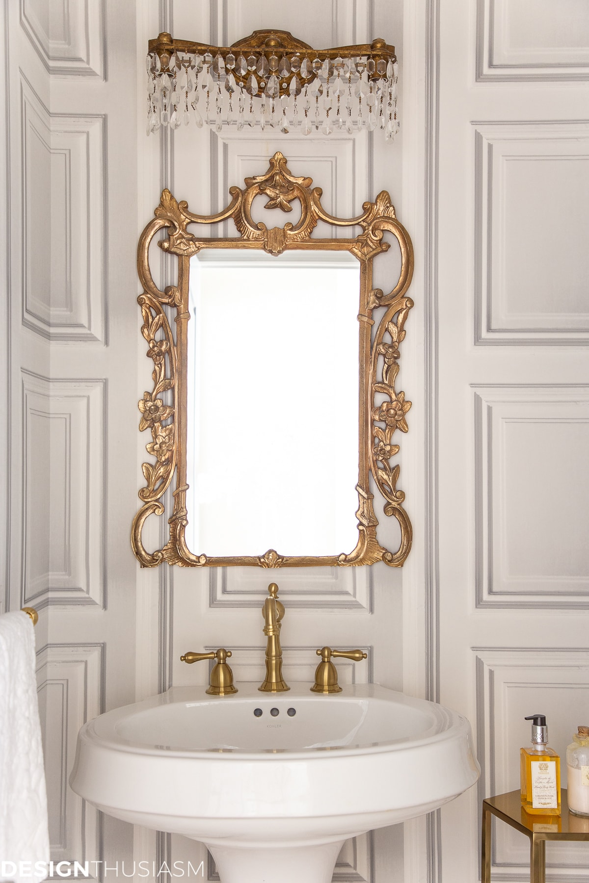 Powder Room Ideas Elegant Powder Room Makeover On A Budget