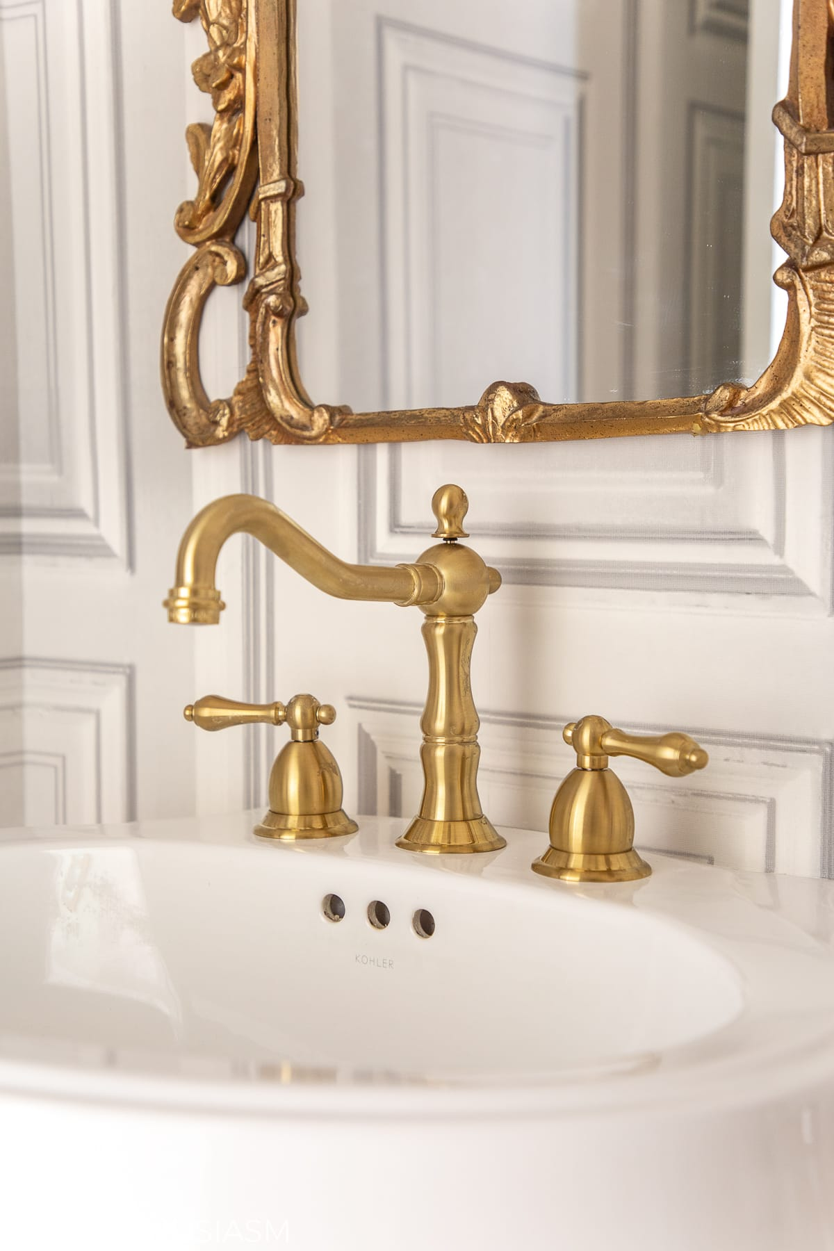 powder room ideas for sink faucet