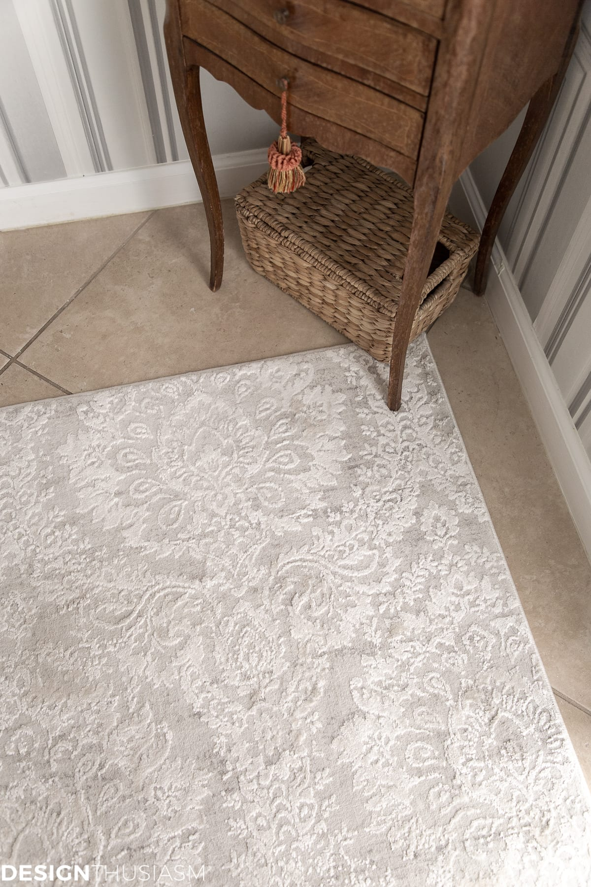 powder room rug