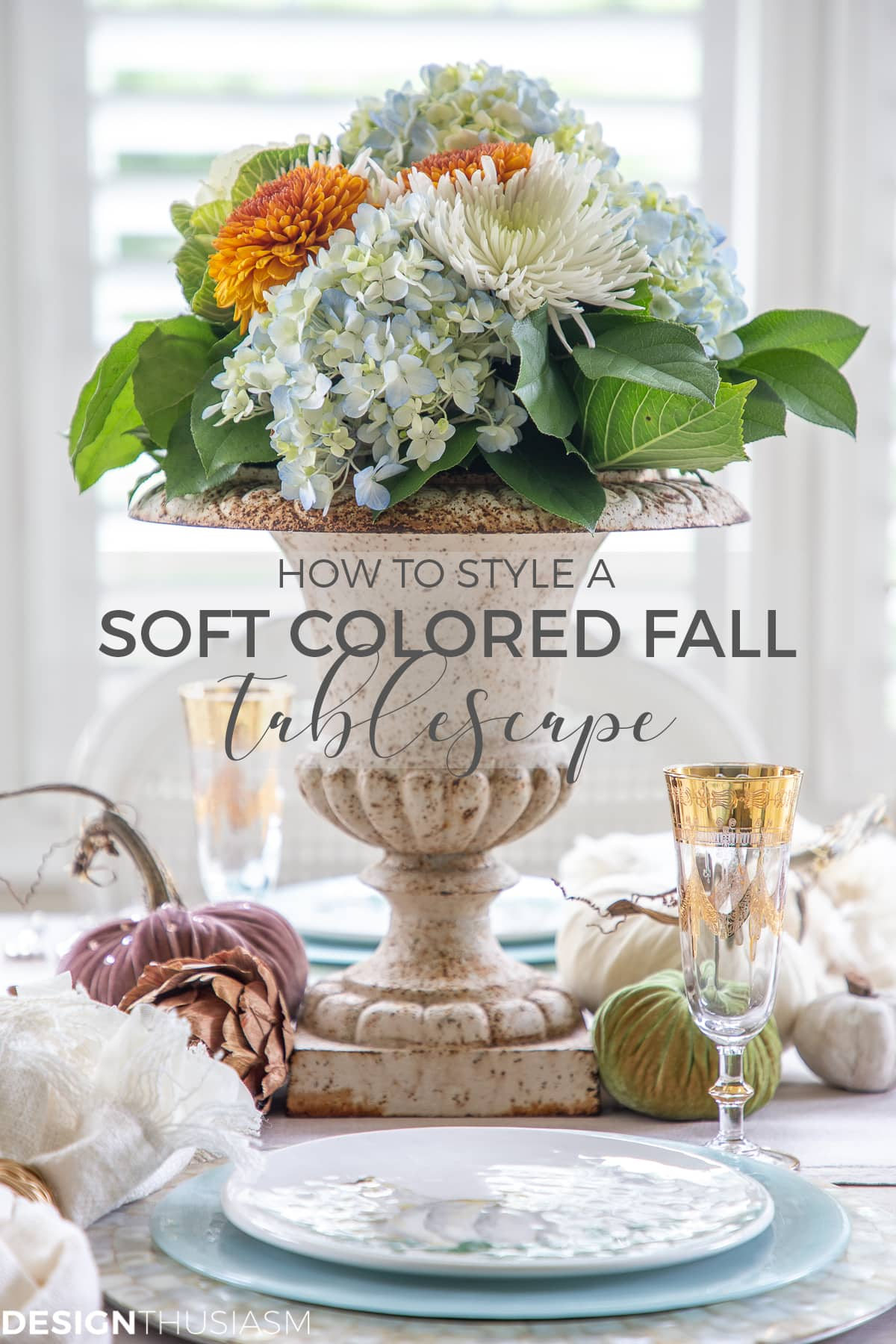 soft colors fall table decor