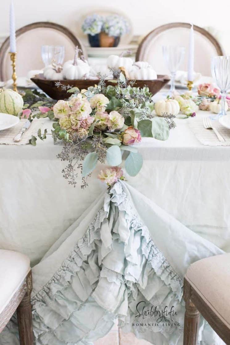 Fall Pastel Table Setting Shabbyfufu