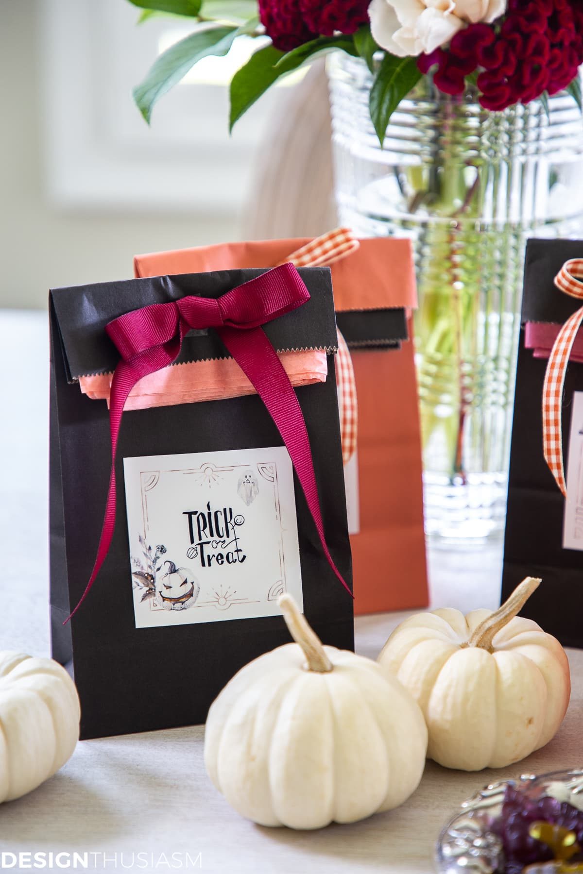 Free Halloween printables candy bag labels