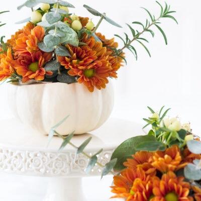 Mini Pumpkin Arrangements from On Sutton Place