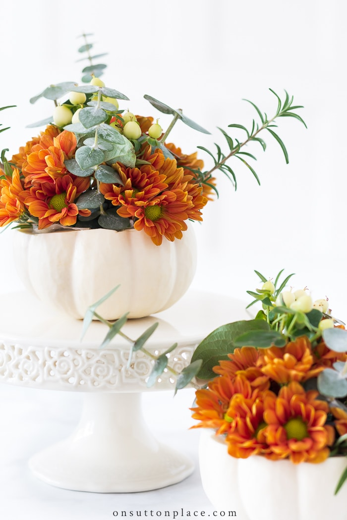 Mini Pumpkin Arrangements from On Sutton Place
