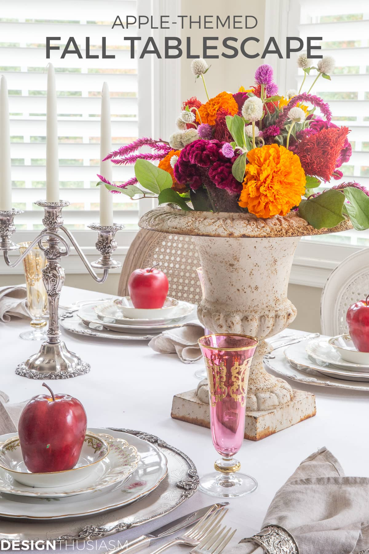 apple decor fall table setting
