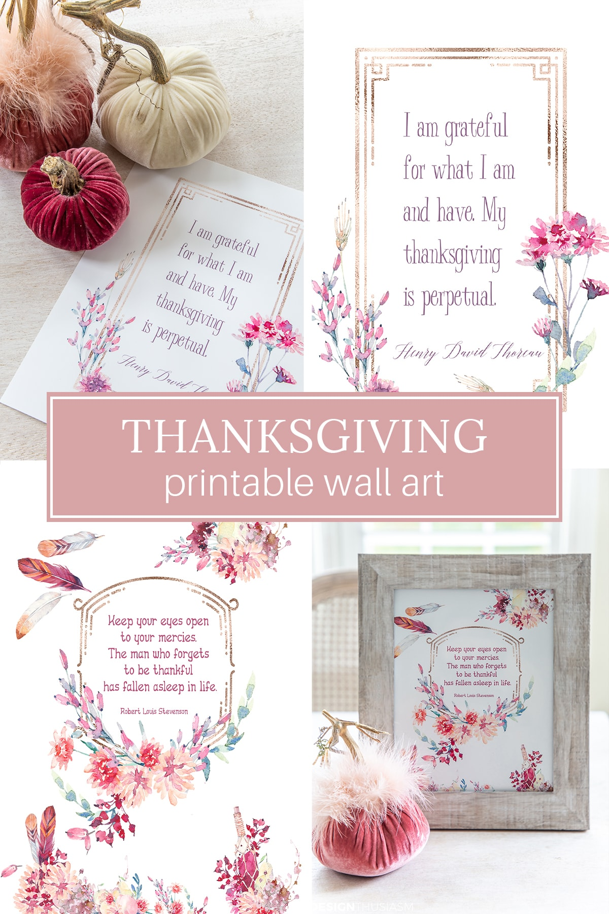 Thanksgiving Printable Wall Art
