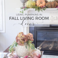 fall living room decor decorating with pumpkins