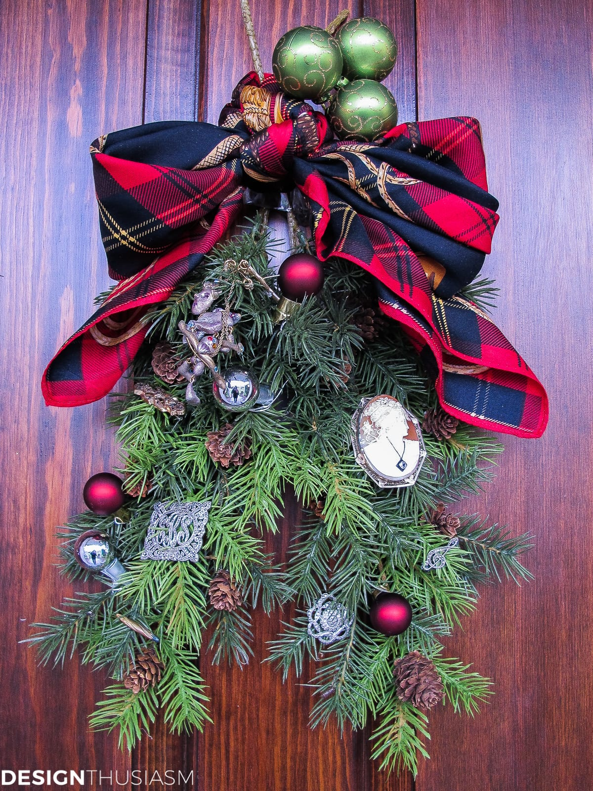 Christmas decoration ideas faux swag