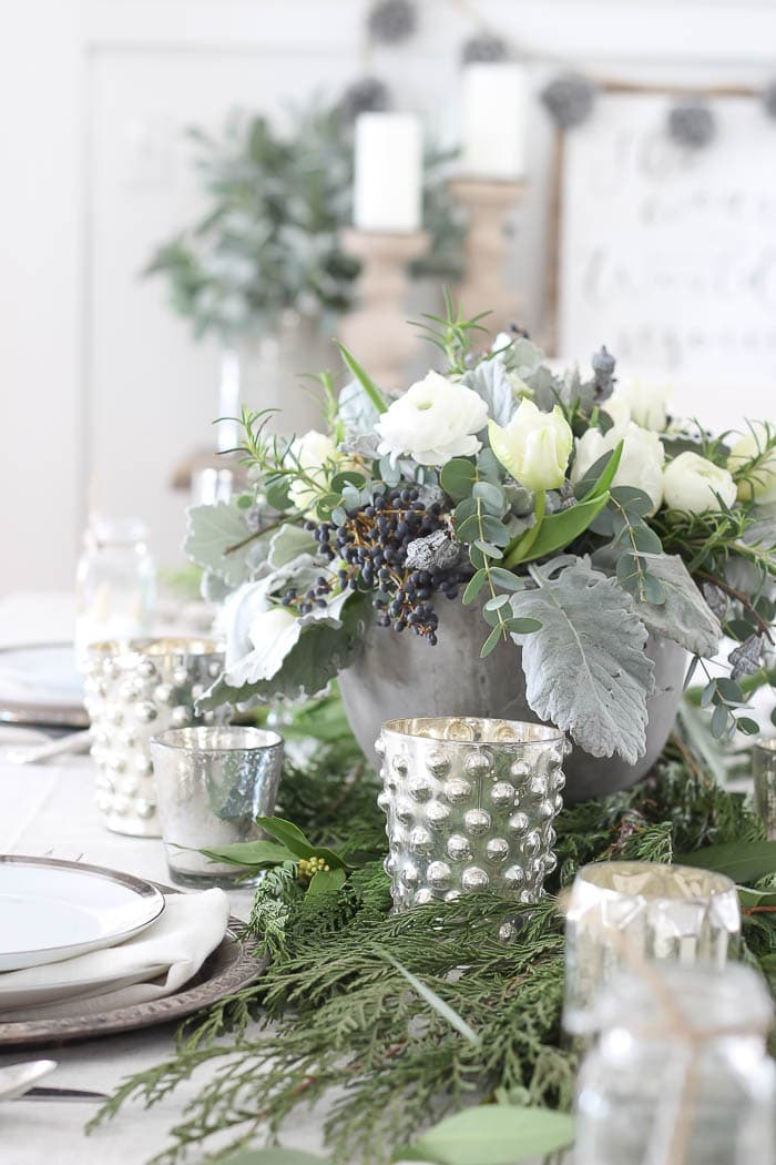 Winter Tablescape-Rooms for Rent