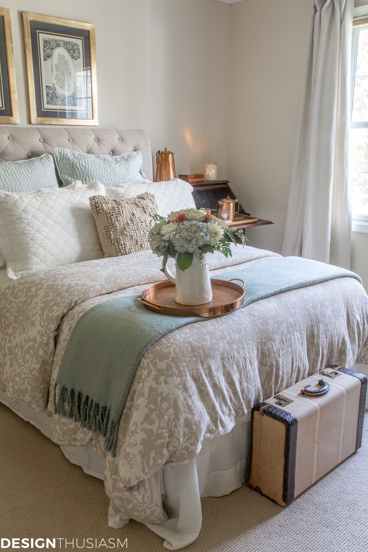 serene fall guest bedroom ideas from Designthusiasm