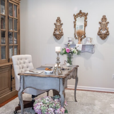 french country home office decor