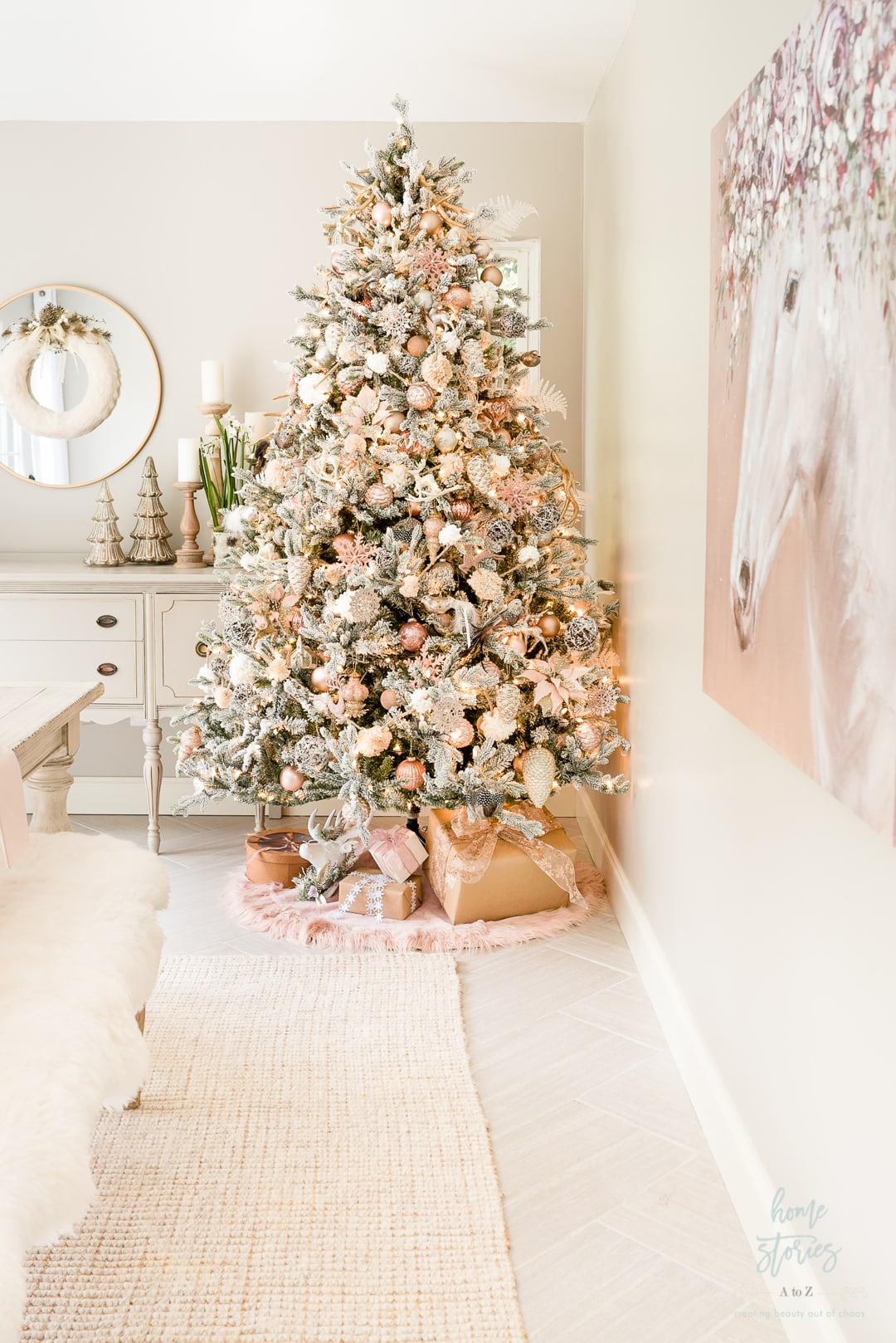 AtZ Blush Christmas Tree