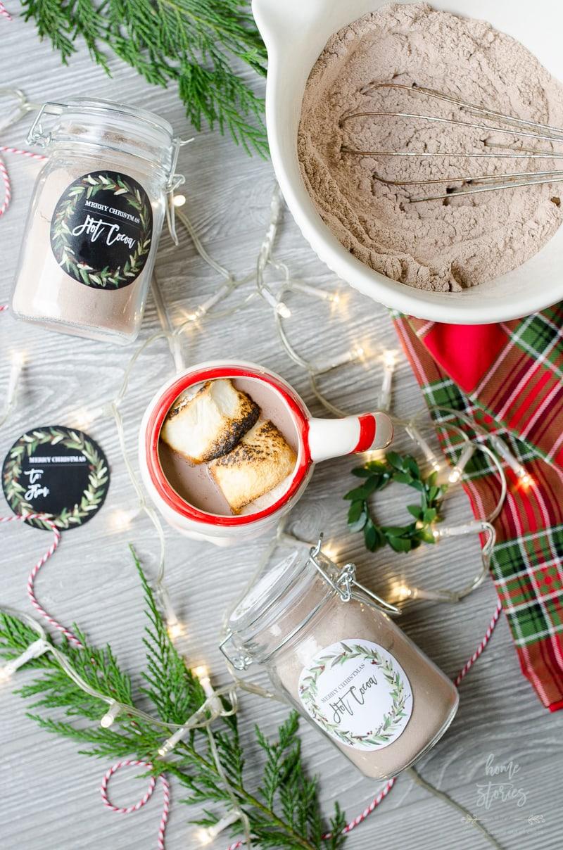 AtZ Hot Cocoa Mix Recipe Jar Gift Free Printable