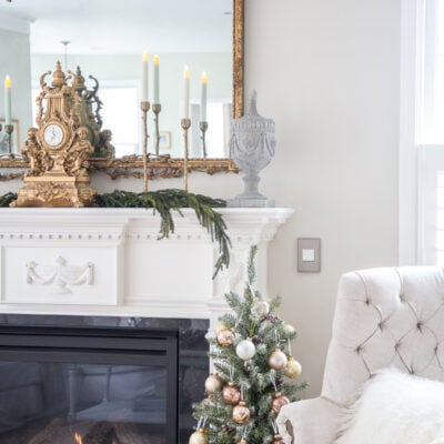 Christmas Living Room: How to Decorate with Holiday Metallics