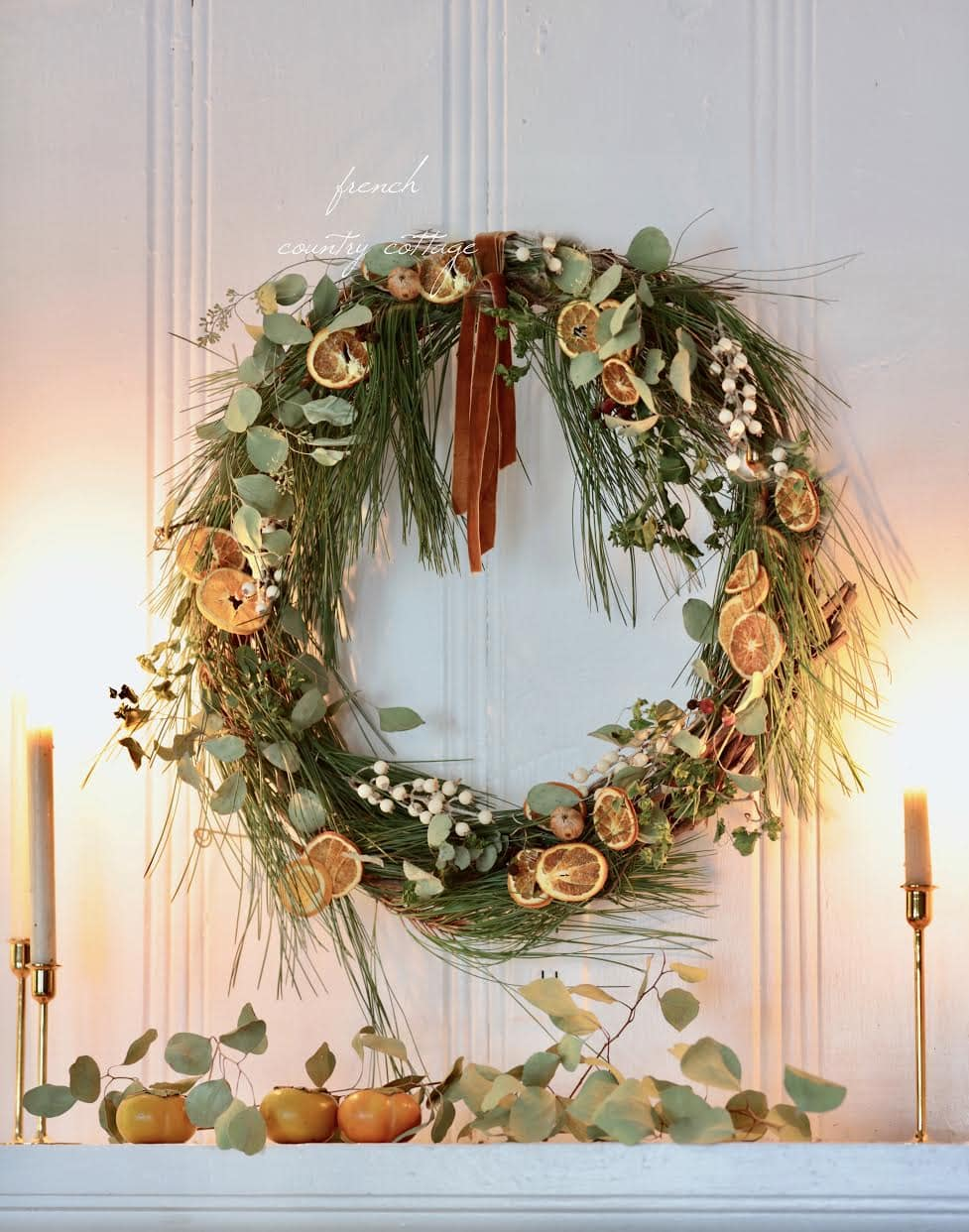 DIY Holiday Citrus Wreath FCC