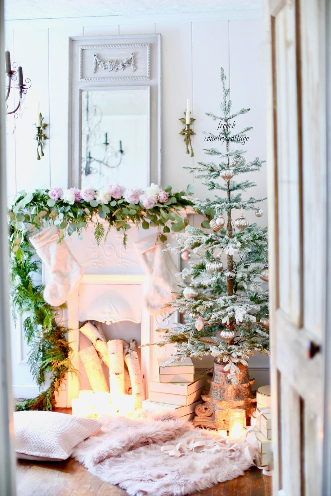French Country Cottage Christmas in office