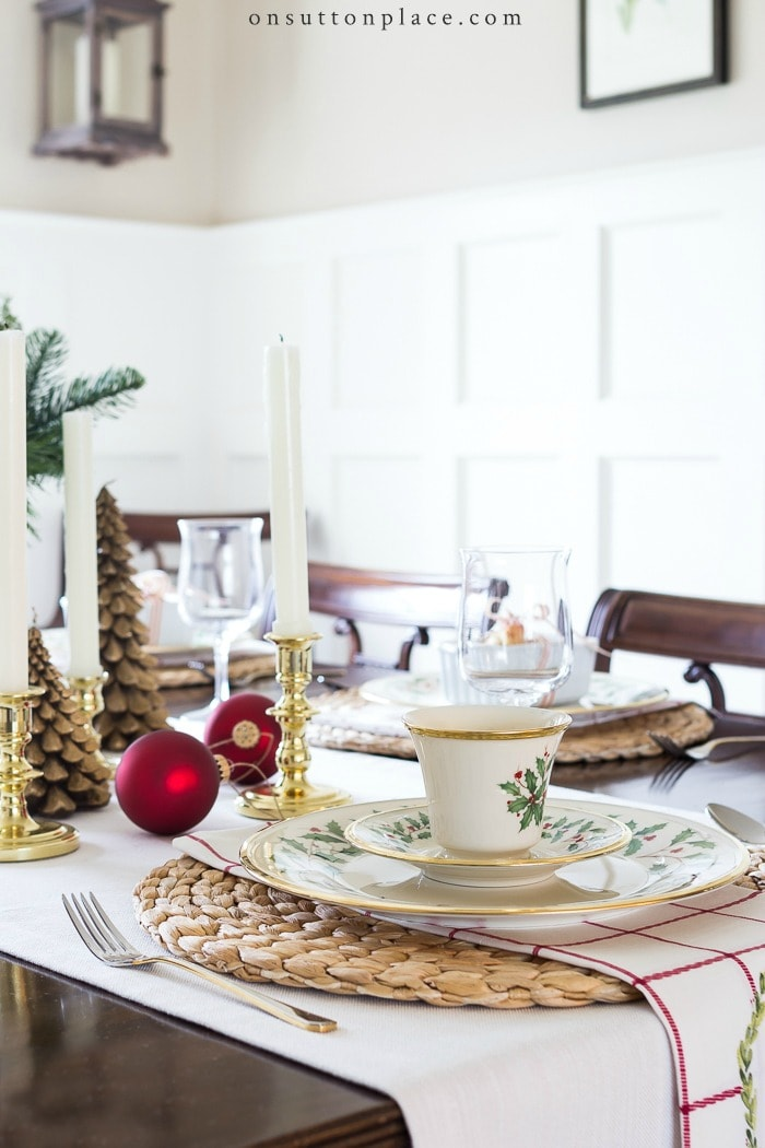 Simple & Classic Christmas Tablescape from On Sutton Place