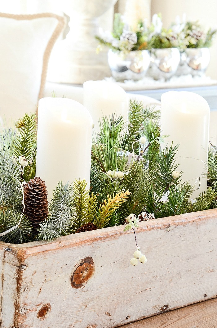 USING FAUX GREENS IN CHRISTMAS DECOR