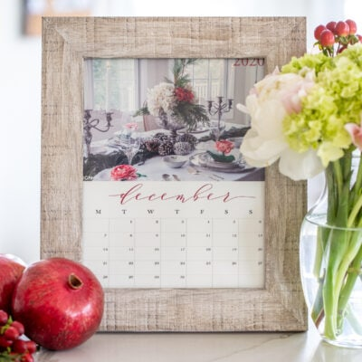 FREE Printable 2020 Calendar: Seasonal Inspiration for the New Year
