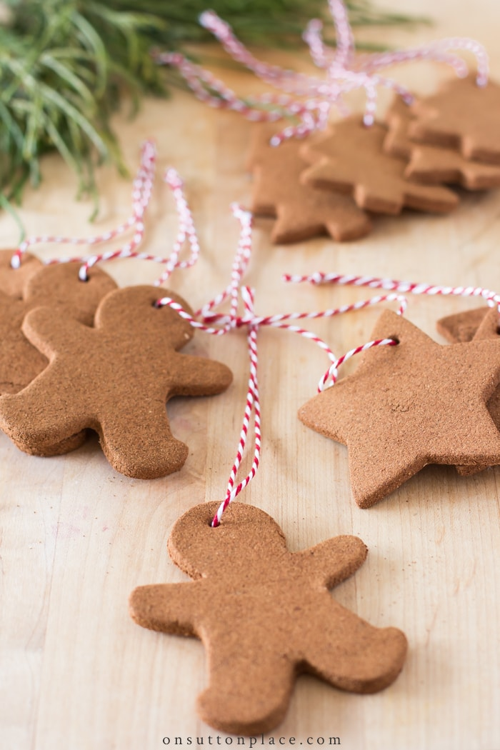 DIY Cinnamon Christmas Ornaments from On Sutton Place